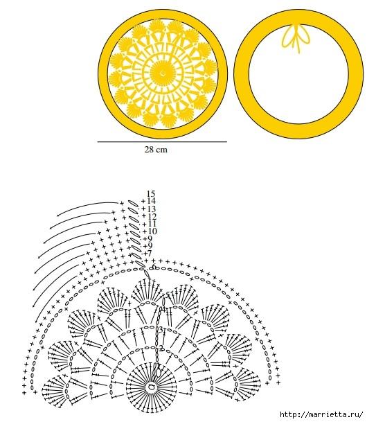 Сидушка крючком для круглой табуретки (2) (530x609, 168Kb)