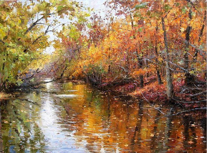 Impressionizm-E.J.Paprocki.-Kartina-River-in-Autumn.-36h48-dyuymov-holst-maslo (700x519, 132Kb)