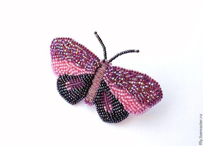 Брошки из бисера своими руками схемы бабочка