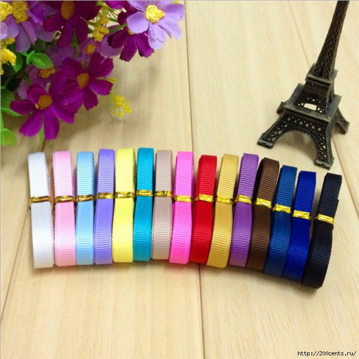 New 2015 Solid Grosgrain Ribbon lots 10 yds (6 mm) hair bows ribbon free shipping/5863438_New2015SolidGrosgrainRibbonlots10yds6mmhairbowsribbonfreeshipping (700x699, 270Kb)