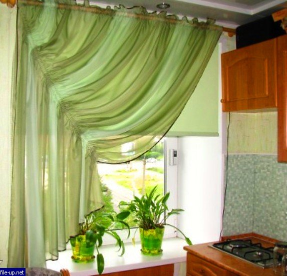 Шьем шторы на кухню