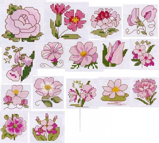 Мини схемки - цветочки