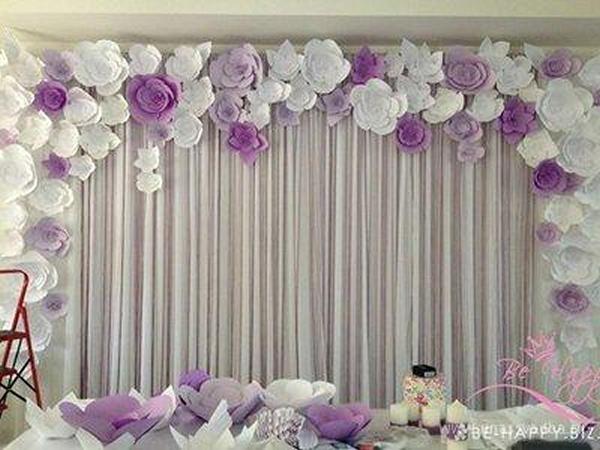 Бумажные украшения для свадьбы своими руками