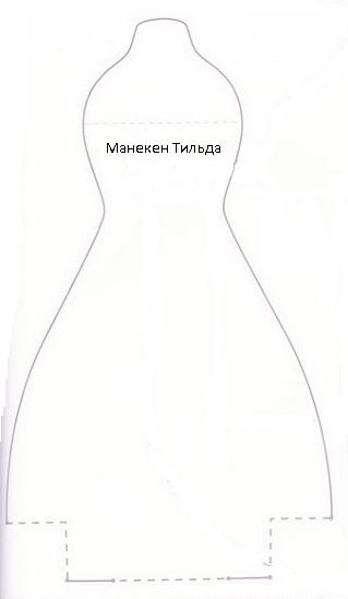 141Сшитый манекен выкройки