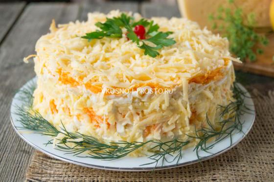Салат нежность слоями рецепт с