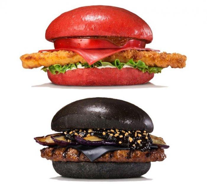 разноцветные бургеры Burger King 1 (700x631, 230Kb)