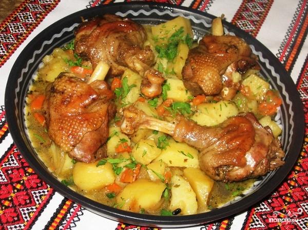 Рецепт приготовления гуся с картошкой