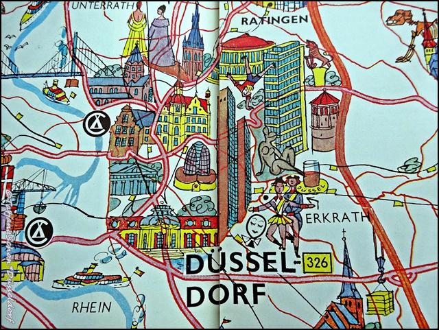 Карта моих маршрутов - Дюссельдорф и вокруг