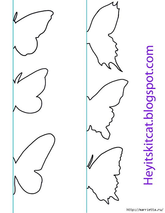 Панно с бабочками из бумаги (1) (540x700, 98Kb)
