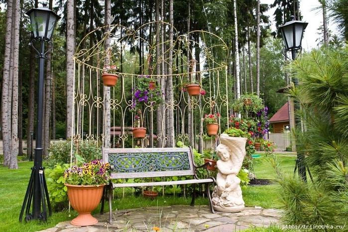 красивые места отдыха в саду фото