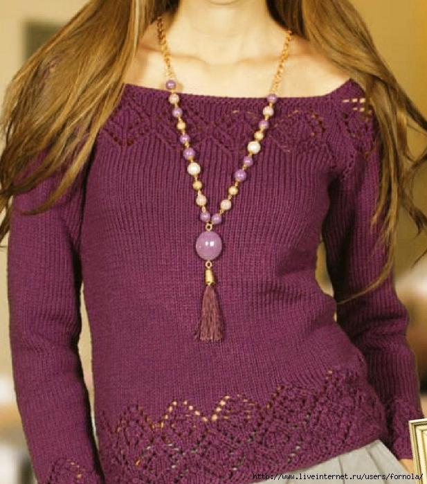 Пуловер из Nako (617x700, 328Kb)