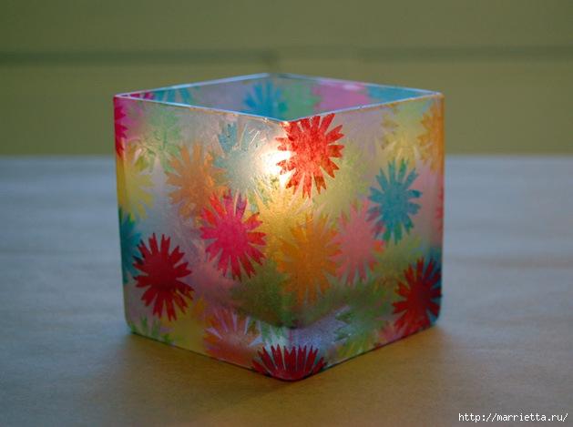 Матовый подсвечник из стакана (1) (629x469, 158Kb)