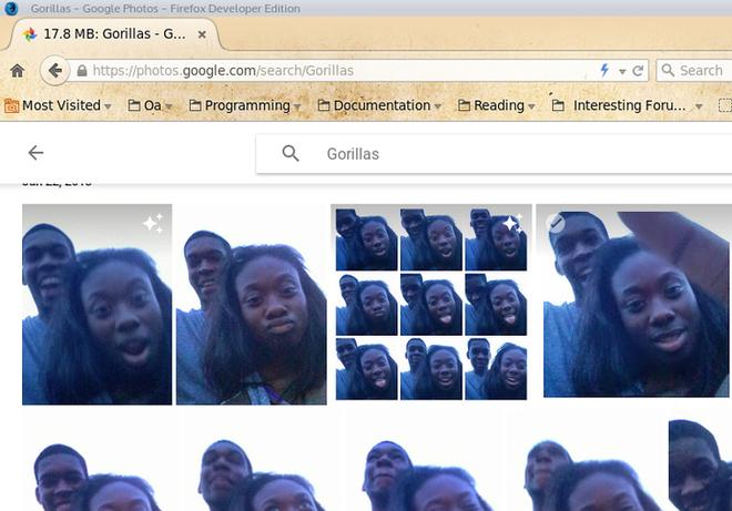Приложение Google Фото решило, что негры похожи на горилл