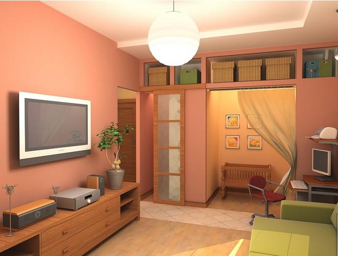 дизайн комнаты в однокомнатной квартире 30 кв.м фото