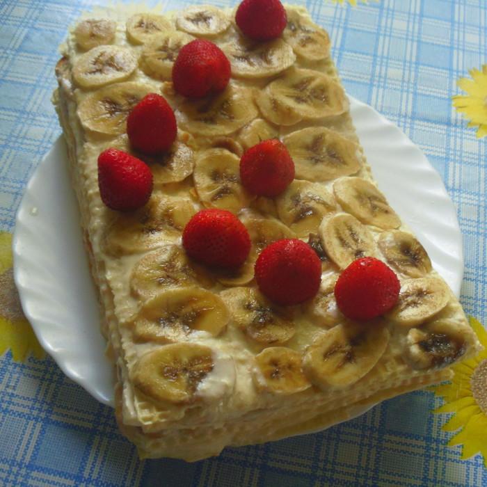 торт наполеон без выпечки рецепт с фото