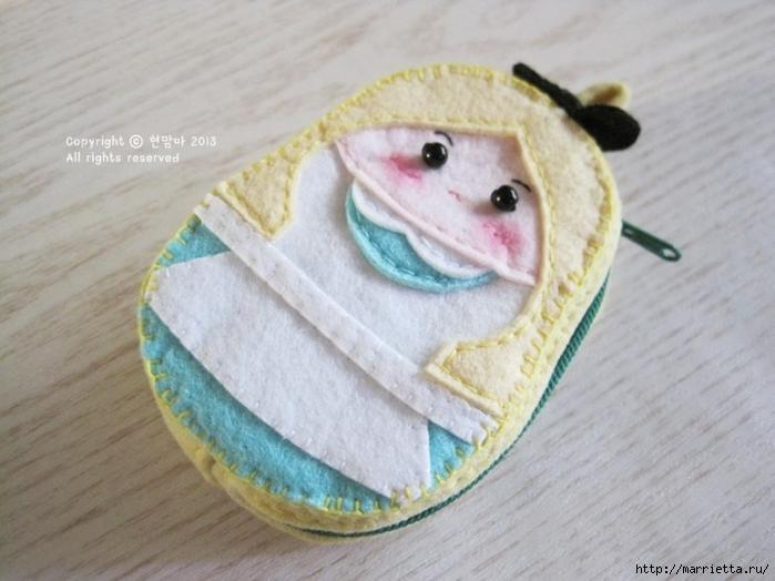 Детский кошелек-куколка из декоративного войлока (28) (700x524, 222Kb)