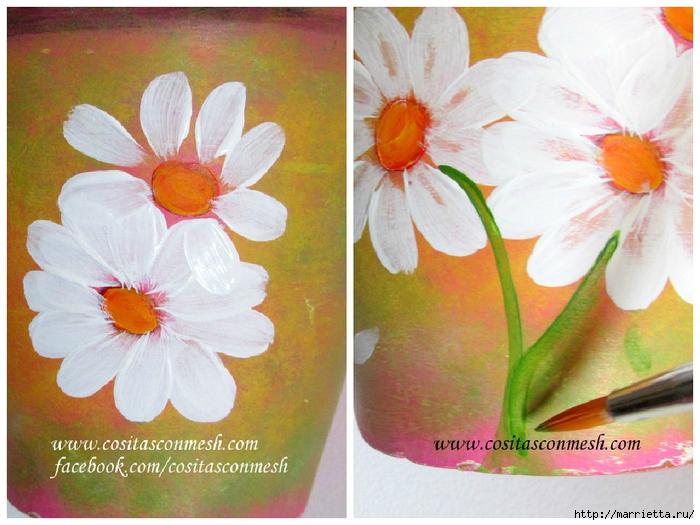Ромашки на цветочном горшке. Идея росписи (1) (700x525, 286Kb)