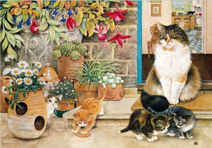 кошка и котята картинки для детей