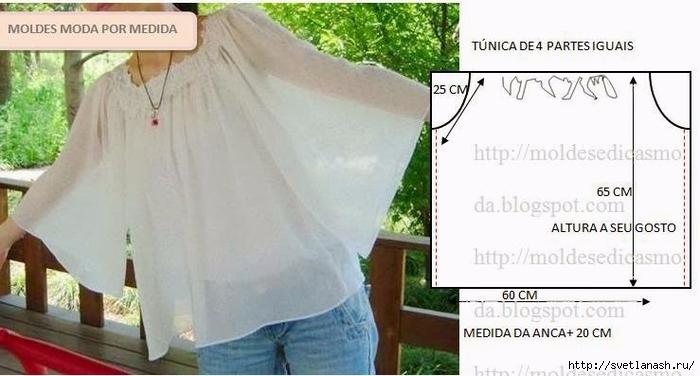 Как быстро сшить летнюю блузку
