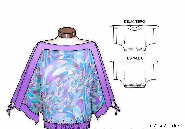 Сшить блузку для полных
