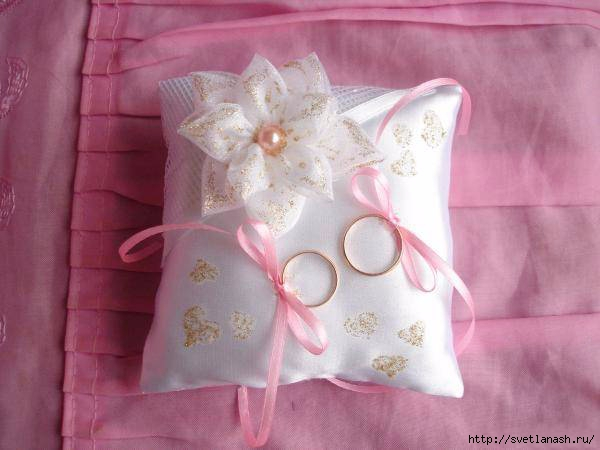 Сшить подушечку для колец на свадьбу своими руками