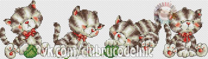 Playing Kittens (700x200, 200Kb)