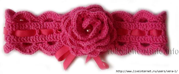 Вязаная-повязка-с-розочкой-для-девочки (700x289, 154Kb)