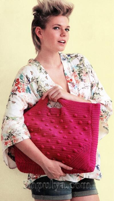 вязаная сумка крючком, сумка крючком, сумка с шишечками,/5557795_1020_1 (399x700, 226Kb)