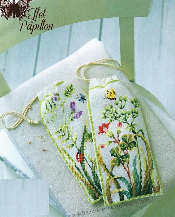 Вышивка мешочек
