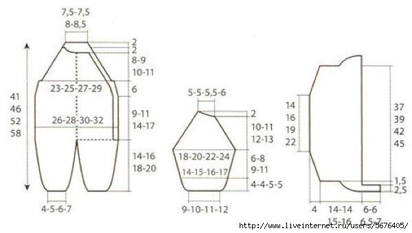 Размеры комбинезона для новорожденных выкройка