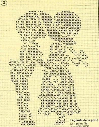 Филейное вязание схемы картин крючком схемы 72