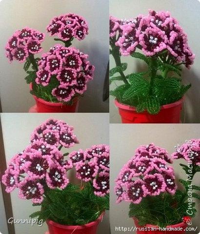 Цветы из бисера. ФЛОКСЫ (410x480, 151Kb)