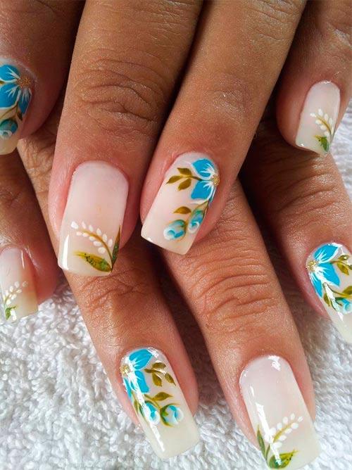 Гелевые ногти на весну