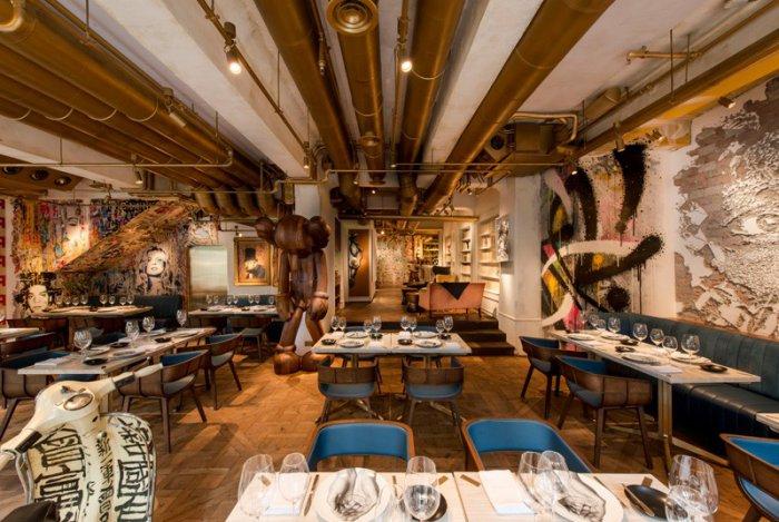 ресторан в стиле стрит-арт гонконг