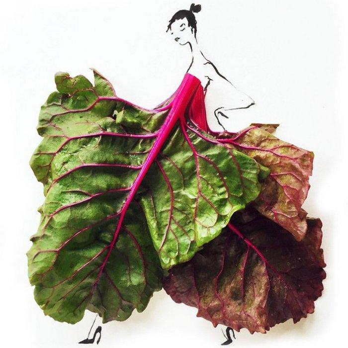 прикольные платья из овощей и фруктов Гретхен Роерс 2 (700x700, 315Kb)