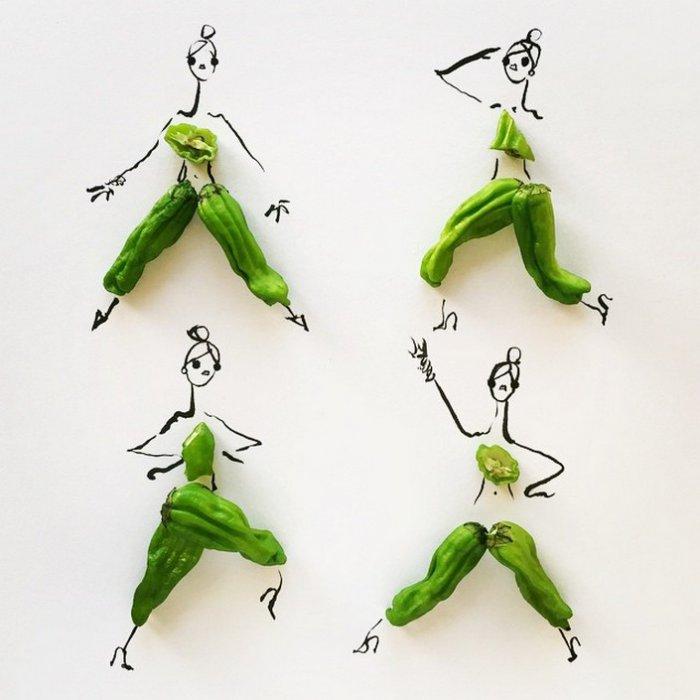 прикольные платья из овощей и фруктов Гретхен Роерс 8 (700x700, 198Kb)