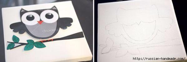 Детское панно с совушкой из пуговиц (2) (600x200, 47Kb)