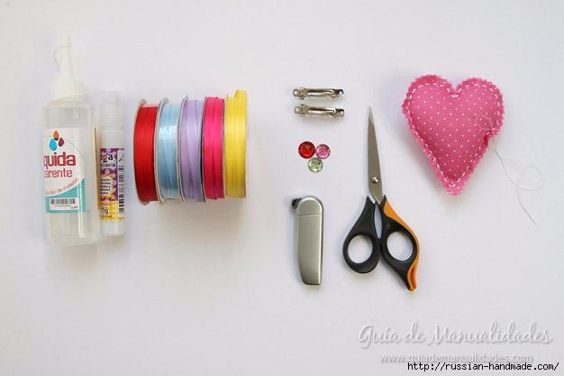 Декор заколки для волос цветами из ленточек (2) (626x417, 95Kb)