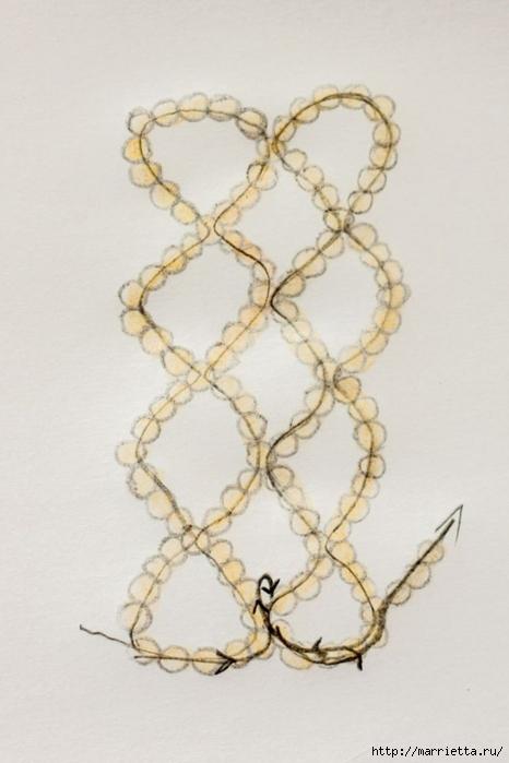 Браслет из бисера. Схемы плетения (3) (466x700, 166Kb)