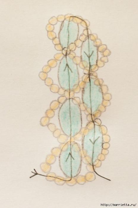 Браслет из бисера. Схемы плетения (5) (465x700, 153Kb)