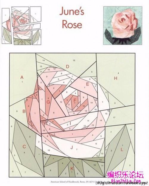 Цветочный квилт. Лоскутные блоки (1) (500x621, 180Kb)