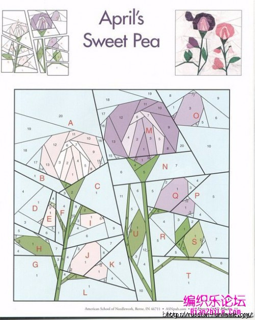 Цветочный квилт. Лоскутные блоки (13) (500x627, 188Kb)