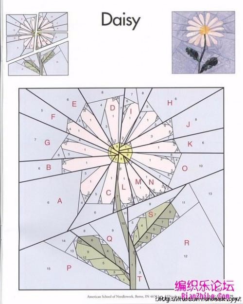 Цветочный квилт. Лоскутные блоки (19) (500x625, 169Kb)