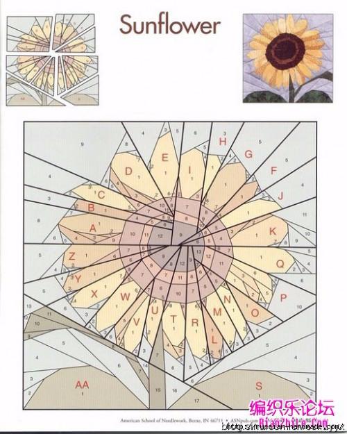 Цветочный квилт. Лоскутные блоки (30) (500x625, 207Kb)