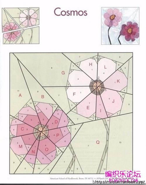 Цветочный квилт. Лоскутные блоки (34) (500x632, 166Kb)