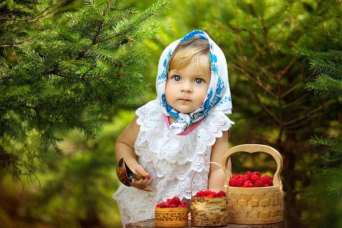Шаблон для фотошопа -Аленушка в лесу (700x466, 413Kb)