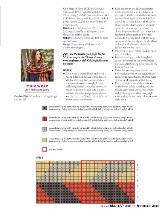 Палантин спицами геометрическим узором (3) (542x700, 230Kb)