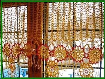 шторы вязанные крючком для кухни