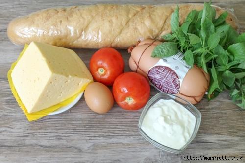 Закусочный пирог по-быстрому с сыром, колбасой и помидорами (2) (500x333, 140Kb)