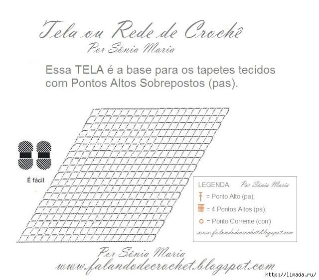 TELA DE CROCHE  BASE PARA TAPETES GRГЃFICO (640x563, 178Kb)